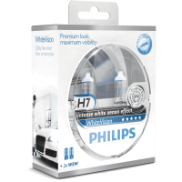 Автолампа PHILIPS H7  White Vision 4300К +60% (2шт.)