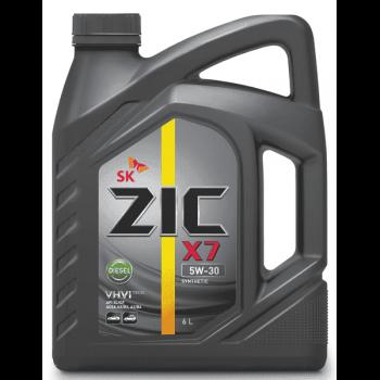 Дизельное моторное масло ZIC 5W-30  X7 Diesel CF-4, 6л