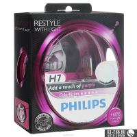 Автолампа PHILIPS H7  Color Vision +60% розовая  3350K