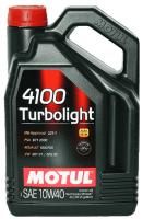 Моторное масло MOTUL 4100 TURBOLIGHT 10W-40, 4л