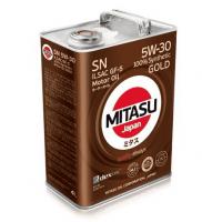 Масло моторное MITASU Gold 5W30 SN 4 л