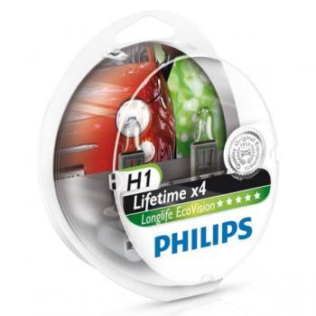 Автолампа PHILIPS  H1 Long Life Eco (2 шт)