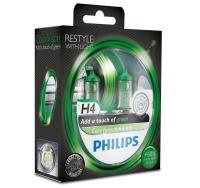 Автолампа PHILIPS H4  Color Vision +60% зеленая 3350K