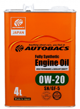 Моторное масло AUTOBACS FULLY SYNTHETIC SAE 0W20, 4 л