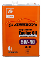 Моторное масло AUTOBACS 5W40 ENGINE OIL FULLY SYNTHETIC 4л