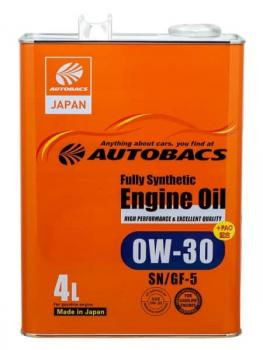 Моторное масло AUTOBACS FULLY SYNTHETIC SAE 0W30 , 4 л