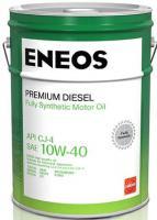Масло моторное ENEOS Premium Diesel CJ-4 Синтетика 10W40 20л