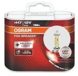 Автолампа OSRAM H7 12V 55W FOG BREAKER + 200%  (2 шт)