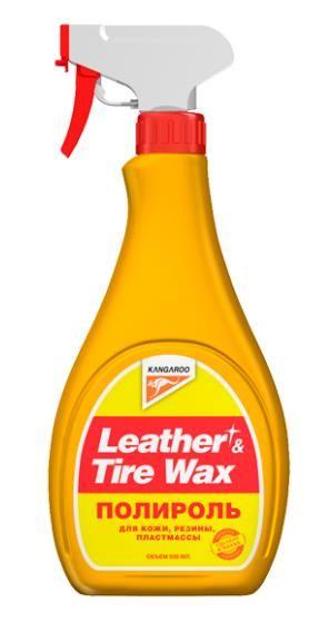 Полироль для кожи, резины, пластмассы Leather & Tire Wax 500мл
