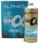 Моторное масло SUMICO (ALPHAS) 0W20 SN/GF-5, 4л