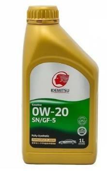 Моторное масло IDEMITSU FULLY-SYNTHETIC SN/GF-5 0W20, 1л