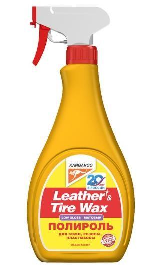 Полироль для кожи, резины, пластмассы Leather&Tire Wax Low Gloss 500мл