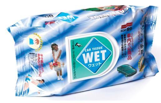 Салфетки влажные универсальные Soft99 Wet Tissue, 80шт
