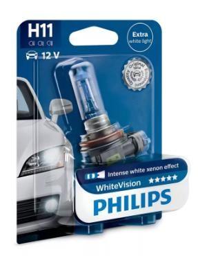 Автолампа PHILIPS H11 White Vision 3700K (блистер 1шт)