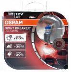 Автолампа OSRAM  H1 NIGHT BREAKER UNLIMITED +110%  (2 шт)