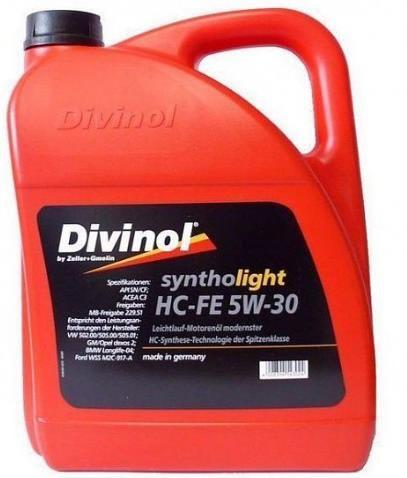 Моторное масло DIVINOL Syntholight HC-FE 5w30 4 л