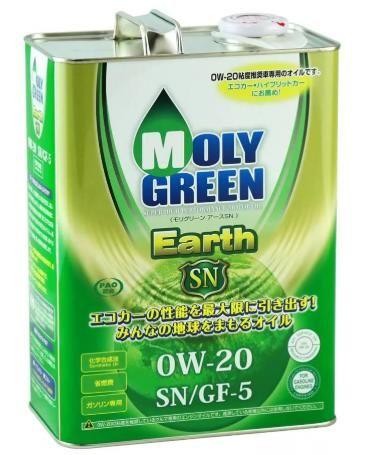 Моторное масло MOLY GREEN EARTH SN/GF5 0W20 (4л)