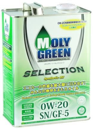Моторное масло MOLY GREEN SELECTION 0W20 SN/GF-5 (4л)