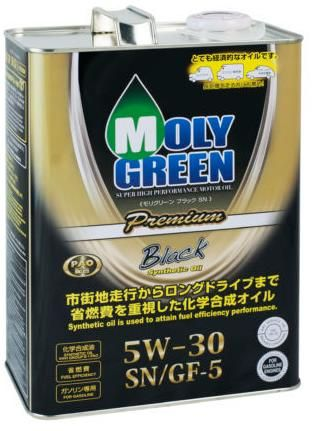 Моторное масло MOLY GREEN BLACK SN/GF-5 5W30 (4л)