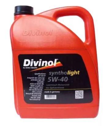 Моторное масло DIVINOL Syntholight 5w40 5 л.