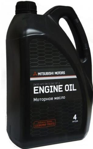 Моторное масло MITSUBISHI MOTOR OIL 0W30 4л