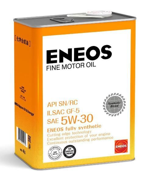 Масло моторное ENEOS FINE MOTOR OIL SN 5W30 4л