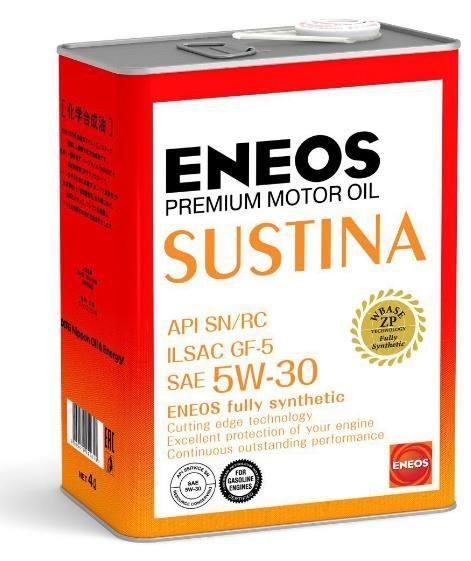 Масло моторное ENEOS SUSTINA SN Синтетика 5W30 4л