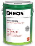 Масло моторное ENEOS 5W30  Super Diesel CG-4 п\синт 20л