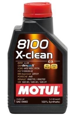 Моторное масло MOTUL 8100 X Clean 5w40 C3, 1л