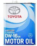 Масло моторное Toyota SN SAE 0W16 4л