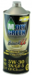 Моторное масло MOLYGREEN PREMIUM BLACK α SN/CF C3 5W-30 1L