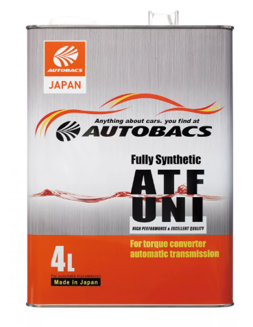 Жидкость трансмиссионная   AUTOBACS ATF UNI Fully Synthetic  (4л)