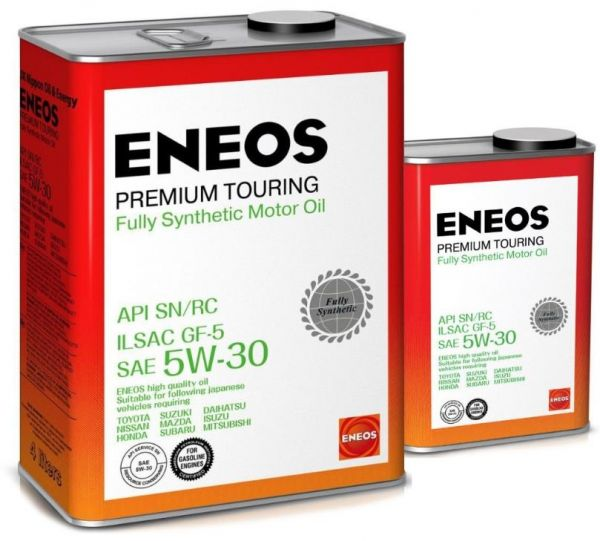 Масло моторное ENEOS Premium TOURING SN 5W30  4+1л=5л