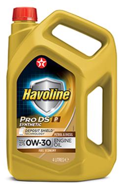 Моторное масло TEXACO HAVOLINE PRODS P 0W30 4л