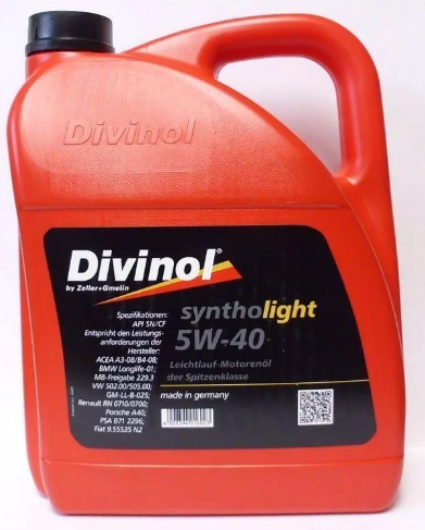 Моторное масло DIVINOL Syntholight 5w40  4 л
