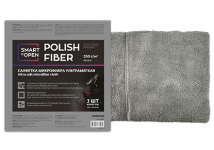 Салфетка из микрофибры POLISH FIBER для сушки автомобиля 40х40 350гр