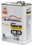 Моторное масло AUTOBACS ENGINE OIL SYNTHETIC 5W30 SN/GF-5 (4л)