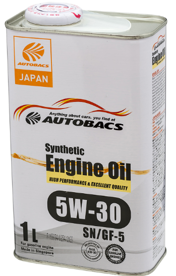 Моторное масло AUTOBACS ENGINE OIL SYNTHETIC 5W30 SN/GF-5 (1л)