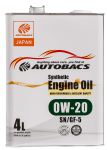 Моторное масло AUTOBACS ENGINE OIL SYNTHETIC 0W20 SN/GF-5 (4л)