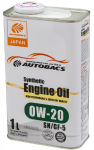 Моторное масло AUTOBACS ENGINE OIL SYNTHETIC 0W20 SN/GF-5 (1л)
