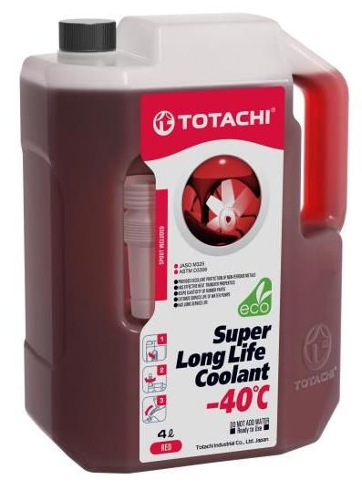 Антифриз TOTACHI SUPER LONG LIFE COOLANT Red -40C 4л