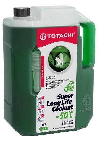Антифриз TOTACHI SUPER LONG LIFE COOLANT Green -50C 4л