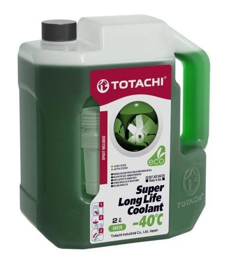 Антифриз TOTACHI SUPER LONG LIFE COOLANT Green -40C 2л