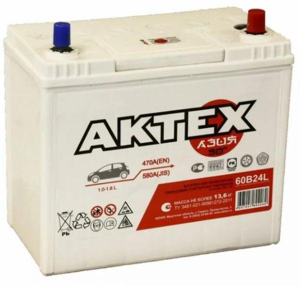 Аккумулятор Asia 50 А/ч о.п. Актех ток 470 60B24L