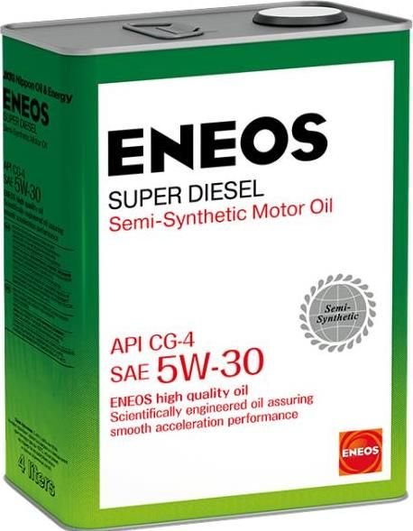 Масло моторное ENEOS 5W30  Super Diesel CG-4 п\синт 4л