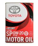 Моторное масло Toyota SP GF6  0W20, 4л