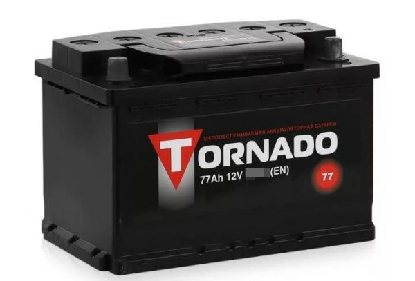 Аккумулятор 77 А/ч п.п. Tornado ток 670 278 х 175 х 190 6CT75