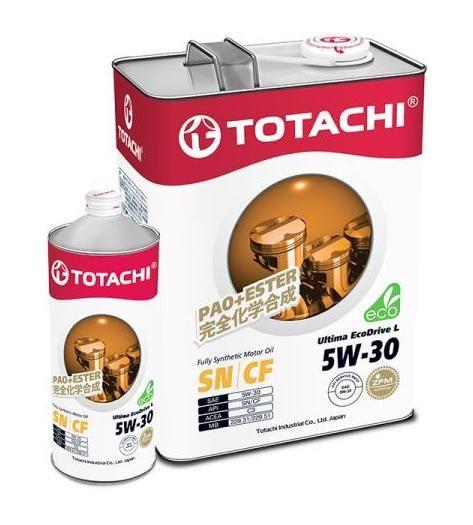 Масло моторное TOTACHI Ultima EcoDrive L SN/CF Синтетика 5W30 акция 4+1=5л