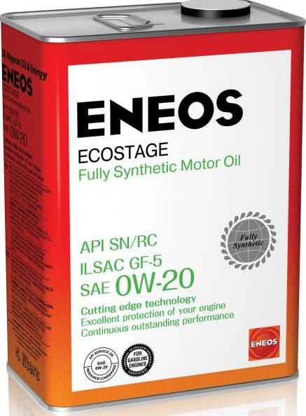 Моторное масло ENEOS 0W20  Ecostage SN Синтетика , 4л
