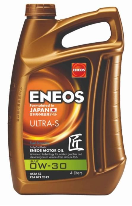 Моторное масло ENEOS Ultra S 0W30 C2 4л